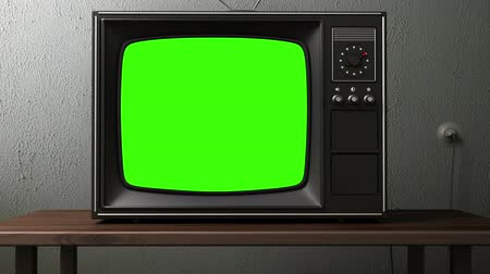 news tv : old TV. switching channels animation