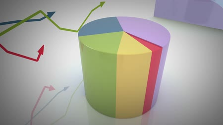 zvýšení : growing and changing graphs. seamless looping 3d animation