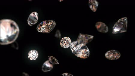 biżuteria : 4k falling diamonds, beautiful background. seamless loop