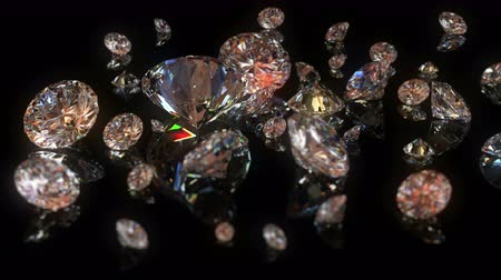 realeza : 4k beautiful diamonds background with changing depth of field. seamless loop Vídeos