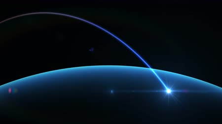 világ : 4K Global network, rotating Earth with night lights, seamless looped 3d animation Stock mozgókép