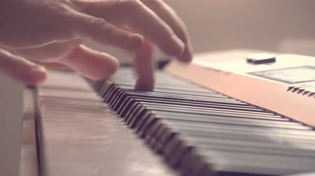 lesson : playing the piano, 4K Stock Footage