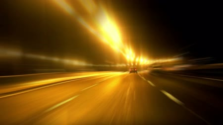 homályos mozgás : Cars on the highway in blurred motion. time lapse