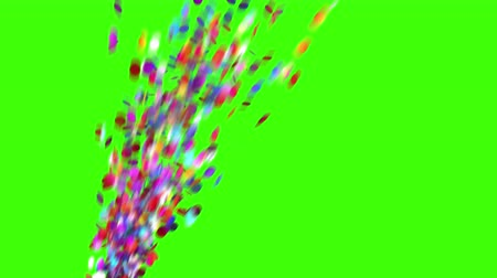 kraker : Confetti Party Popper Explosion on a Green Background. 3d animation, 4K. look for more options in my portfolio