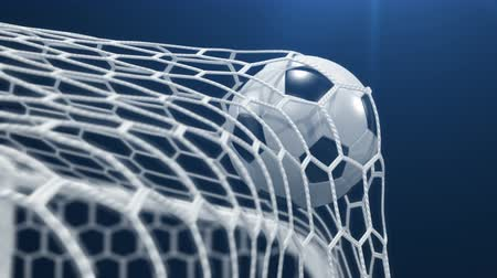 trest : Goal !!! Soccer Ball Flies in the Goal on a black background. Beautiful 3d animation, 4K. look for more options in my portfolio Dostupné videozáznamy