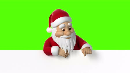 belirtmek : Santa Claus points finger down, seamless looping 3d animation. 4K