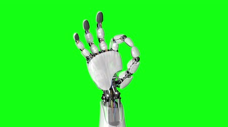 okey : Robotic Hand Shows Okay Sign