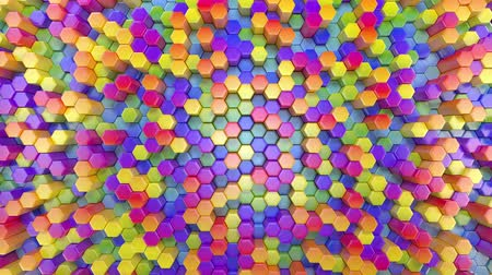 více barevné : Beautiful Abstract Hexagonal Multicolored Background, Seamless Looping 3d Animation, 4K. Look for more options in my portfolio Dostupné videozáznamy