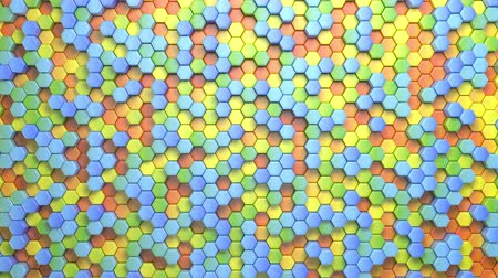 pilares : Beautiful Abstract Hexagonal Multicolored Background, Seamless Looping 3d Animation, 4K. Look for more options in my portfolio Stock Footage