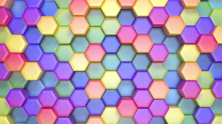 více barevné : Beautiful Hexagonal Multicolored Background, Seamless Looping 3d Animation, 4K. Look for more options in my portfolio
