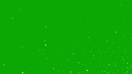 závěj : Falling Snowflakes on a Green Background. Two Options, Seamless Looping 3d Animation. 4K