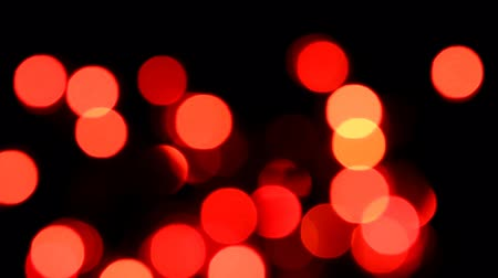 light : Christmas lights twinkling. Stock Footage