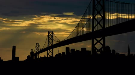 pomost : San Francisco Bay Bridge in the afternoon.
