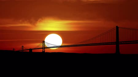 goldene : Golden Gate Bridge bei Sonnenaufgang. Videos