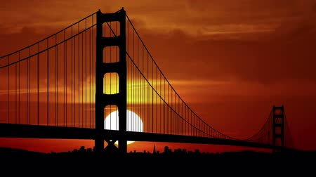 mosty : Golden Gate bridge during sunrise.