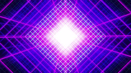 synth : 4K Looping Grid Purple Background Stock Footage