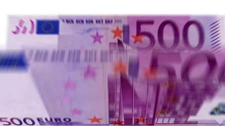 enflasyon : 4K Banknote Counting 500 Euro Stok Video