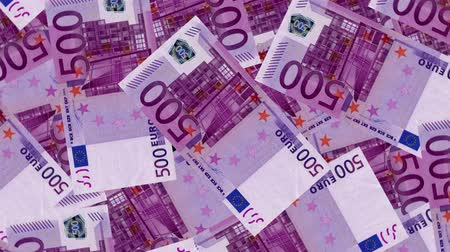 enflasyon : 4K Banknote Field 500 Euro Stok Video