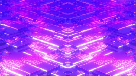 synth : 4k Looped Cybernetic Neon Background