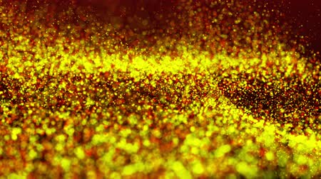 opener : 4k Orange Animated Particles Background