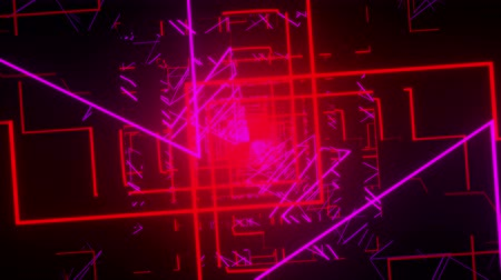 4k Rotating Neon Tunnel Vj loop