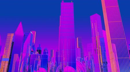 4k Looping Neon Cyber City