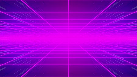 4k Looped Retro Grid Background