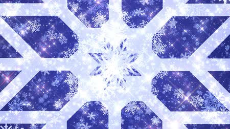 abridor : 4k Seamless Snowflakes Blue Background VJ Loop