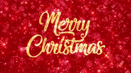 Merry Christmas Looping Red Background 4k Wideo