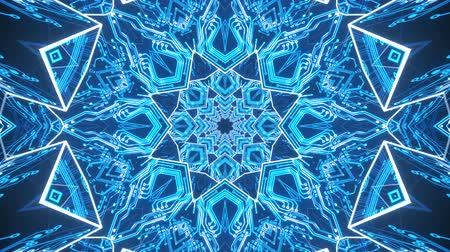 digital art : 4k Blue Cybernetic VJ Loop