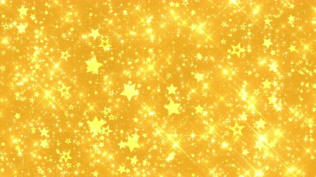 4k Seamless Golden Starfall Background