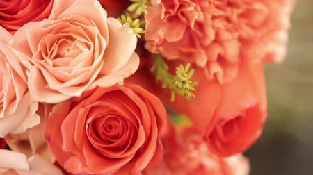 casamento : Wedding bouquet and rings Stock Footage