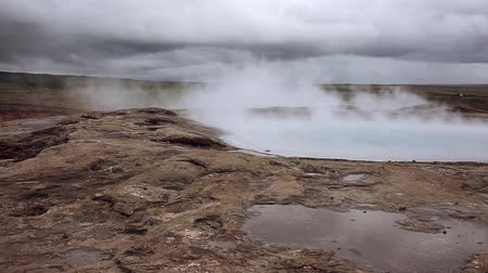 geyser iceland : Iceland, steam of hot water in the geyser valley