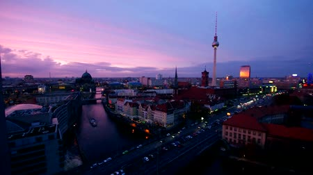 night : Berlin by night Stock Footage