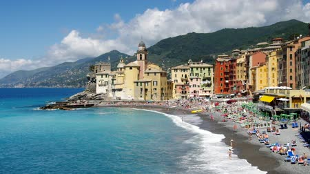 İtalyan : Camogli  Stok Video