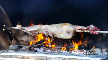 forno : lamb on spit