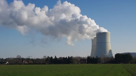 cooling tower : powerplant Stock Footage