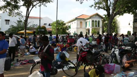 malajsky : GEORGE TOWN, MALAYSIA - CIRCA FEBRUARY, 2015: Flea market in the central historic district of the city. This market is very popular with tourists and locals alike.