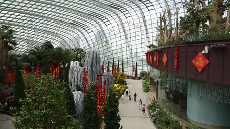 premier : SINGAPORE - JANUARY 27, 2015: The conservatory Flower Dome is located on the territory Park Gardens by the Bay. Park is intended to become Singapores premier urban outdoor recreation space