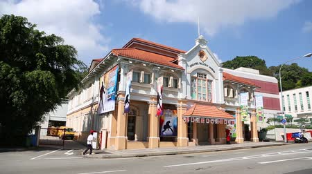 masonic : SINGAPORE - JANUARY 26, 2015: Buildings Singapore Philatelic Museum and Masonic Hall. The exhibition of philatelic materials telling about the history of mail in the building is a shop for collectors.