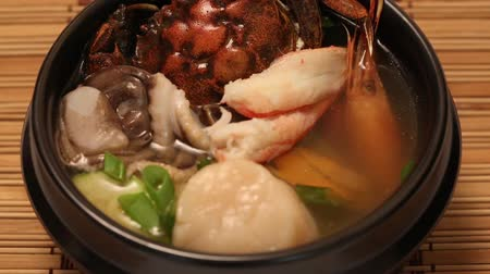 korejština : Haemultang soup with assorted seafood  vegatable. From a series of Food Korean cuisine.