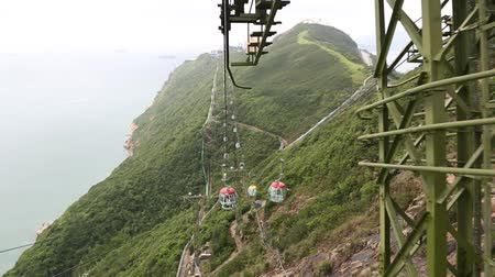 otopark : Visitors to the Ocean Park moved to the cable car cabins Ocean Park Hong Kong
