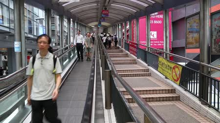 hong kong foot : HONG KONG CIRCA JUNE 2014: The CentralMidLevels escalator and walkway system in Hong Kong is the longest outdoor covered escalator system in the world 800 m. It was constructed in 1993.