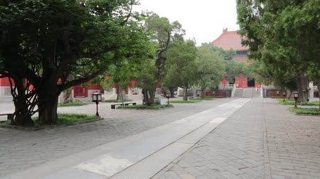 philosopher : BEIJING - CIRCA JUNE, 2015: Confucius Temple is dedicated to the great philosopher Confucius, complex consists of four yards, it was built in 1302. Popular shrine visiting tourists and local people.