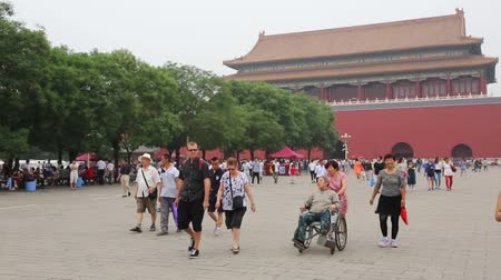 rozsáhlý : BEIJING - CIRCA JUNE , 2015: Forbidden City is located in the historic center of Beijing. Forbidden City palace complex of the most extensive in the world, located on the territory of 980 buildings. Dostupné videozáznamy