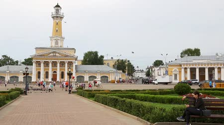 KOSTROMA, RUSSIA - CIRCA JUNE, 2016: Historic center of the city of Kostroma. Included in the tourist route Golden Ring of Russia, was founded in the 12th century.