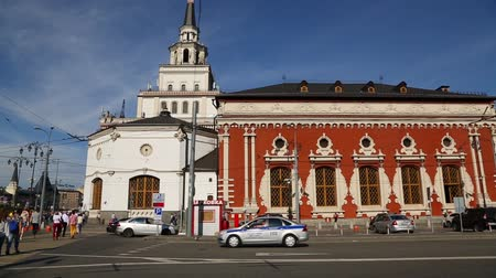 MOSCOW, RUSSIA - CIRCA JUNE, 2016: Kazansky railway station in Moscow was built in 1862 -1864 years. An important transport hub, one of nine railway stations in Moscow.