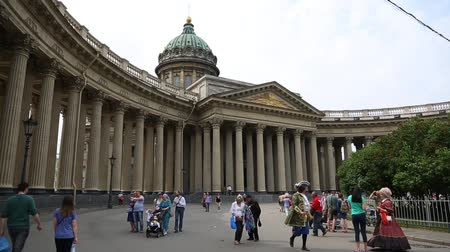 Kazan Cathedral in St. Petersburg ST. PETERBURG, RUSSIA - CIRCA JUNE, 2016: Kazan Cathedral is one of the largest and most important churches of St. Petersburg. Built on the Nevsky Prospekt in the years 1801-1811