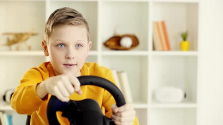 toy : steering wheel Stock Footage