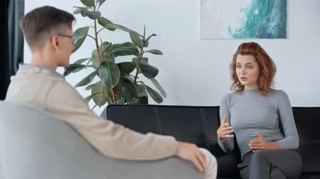 ugró : selective focus of patient talking with psychologist